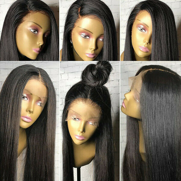 Buy Glueless Yaki Kinky Straight Lace Front Wigs Malaysian Remy Human Hair Wig Women
