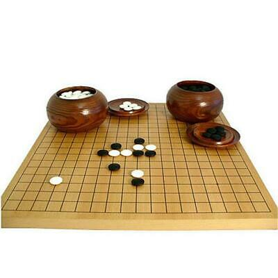 Buy Go Board with Wood Bowls and 8mm Thick Glass Stones