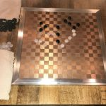 Buy Go Game Bronze Tone Aluminum Board with Black and Translucent White Agate Stones