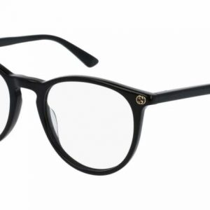 Buy Gucci GG0027O 001 ROUND OVAL BLACK DEMO LENS 50 mm Women's Eyeglasses