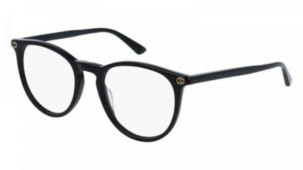 Buy Gucci GG0027O 001 ROUND OVAL BLACK DEMO LENS 50 mm Women's Eyeglasses