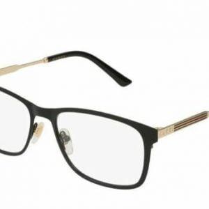 Buy Gucci GG0301O 001 RECTANGULAR SQUARE BLACK DEMO LENS 55 mm Men's Eyeglasses