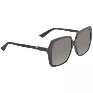 Buy Gucci Grey Asian Fit Oversized Ladies Sunglasses GG0533SA 001 56 GG0533SA 001 56