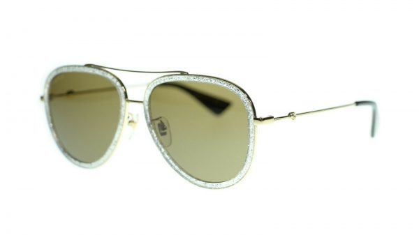 Buy Gucci Women Aviator Sunglasses GG0062S Metal Frame 57mm Authentic