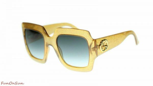 Buy Gucci Women's Sunglasses GG0053S  Square 54mm Authentic