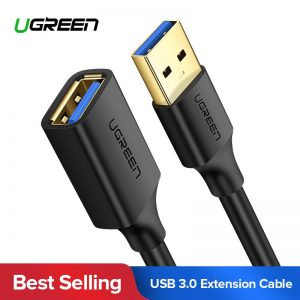 Buy Ugreen USB Extension Cable USB 3.0 Cable for Smart TV PS4 Xbox One SSD USB3.0 2.0 to Extender Data Cord Mini USB Extension Cable