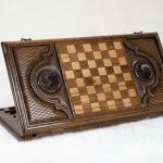 Buy HANDMADE WOODEN VINTAGE BACKGAMMON BOARD GAME SET - ARTSAKH NAGORNO KARABAKH