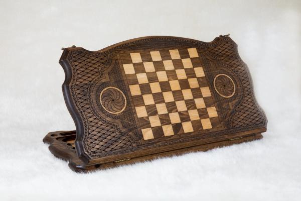 Buy HANDMADE WOODEN VINTAGE BACKGAMMON BOARD GAME SET - ORNAMENT HANDMADE IN ARMENIA