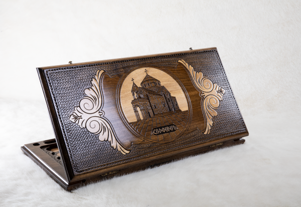 Buy HANDMADE WOODEN VINTAGE BACKGAMMON BOARD GAME SET - SAINT HRIPSIME CHURCH