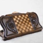 Buy HANDMADE WOODEN VINTAGE BACKGAMMON BOARD SET - ARTSAKH NAGORNO KARABAKH