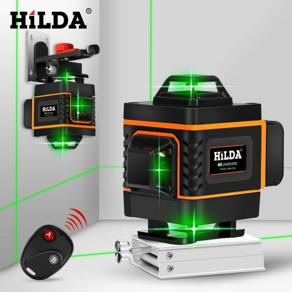 Buy HILDA 16 Lines 4D Laser Level Level Self-Leveling 360 Horizontal And Vertical