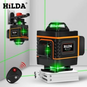 Buy HILDA 16 Lines 4D Laser Level Level Self-Leveling 360 Horizontal And Vertical