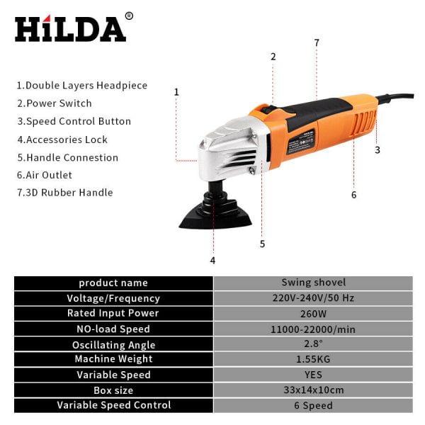Buy HILDA Renovator Multi Tools Electric Multifunction Oscillating Tool Kit