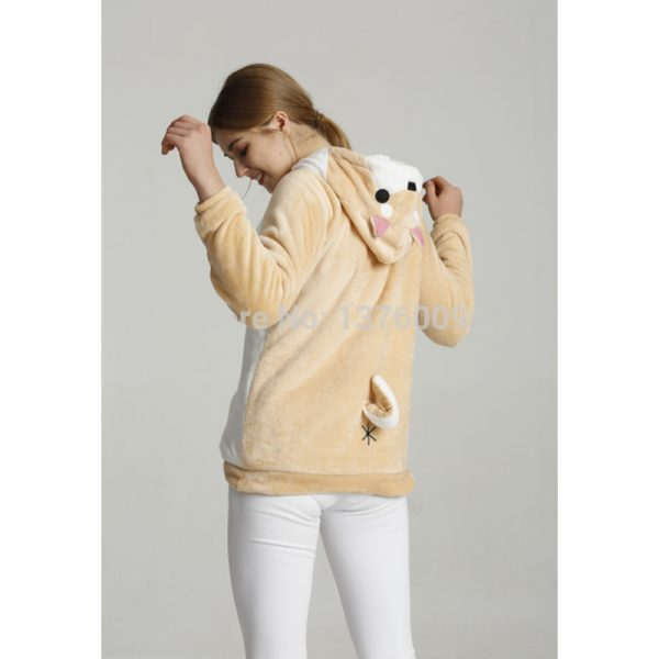 Buy Harajuku Japanese Kawaii Hoodies Women Sweatshirts With Ears Cute Doge Muco Winter Plush Lovely Muco ! Anime Hooded Hoodies