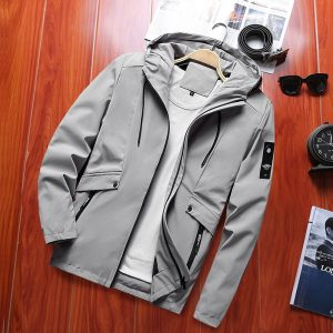 Buy Spring New Men's Windebreaker Trench Bomber Jacket Male Casual Streetwear Pilot Coat US Size
