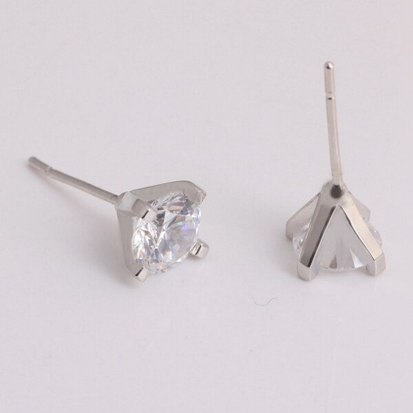 Buy US STOCK Rhinestone Stud Earrings with Stones Female Earring Jewelry of Silver Summer Brincos Orecchini Aretes Uloveido R280 (Platinum Plated White)