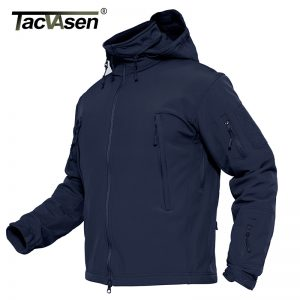 Buy TACVASEN Men Military Jacket Coat Waterproof Army Airsoft Tactical Jacket Winter Softshell Hunt Hike Jacket Detachable Hood 4XL