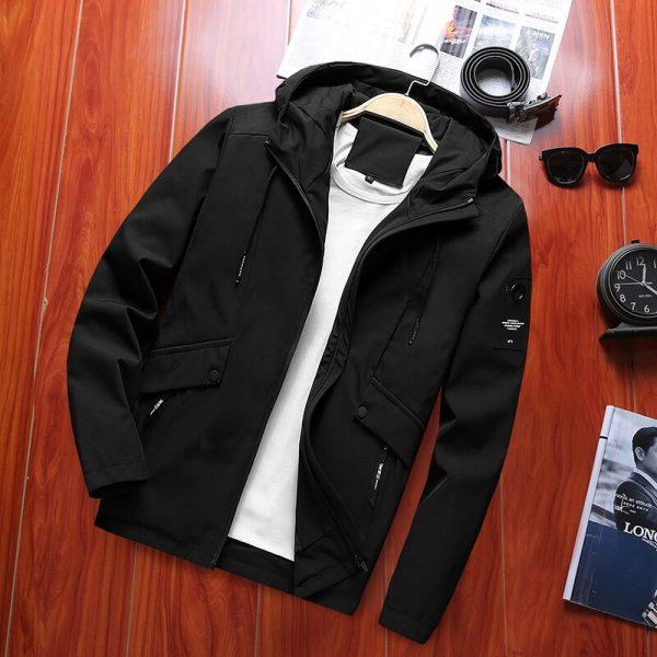 Buy Spring New Men's Windebreaker Trench Bomber Jacket Male Casual Streetwear Pilot Coat US Size