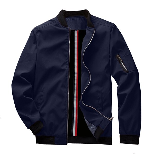 Buy Spring New Men's Bomber Zipper Jacket Male Casual Streetwear Hip Hop Slim Fit Pilot Coat Men Clothing US Size Up to 3XL