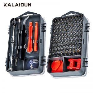 Buy KALAIDUN 112  in 1 Screwdriver Set Magnetic Screwdriver Bit Torx Multi Mobile Phone Repair Tools Kit Electronic Device Hand Tool (BLACK)