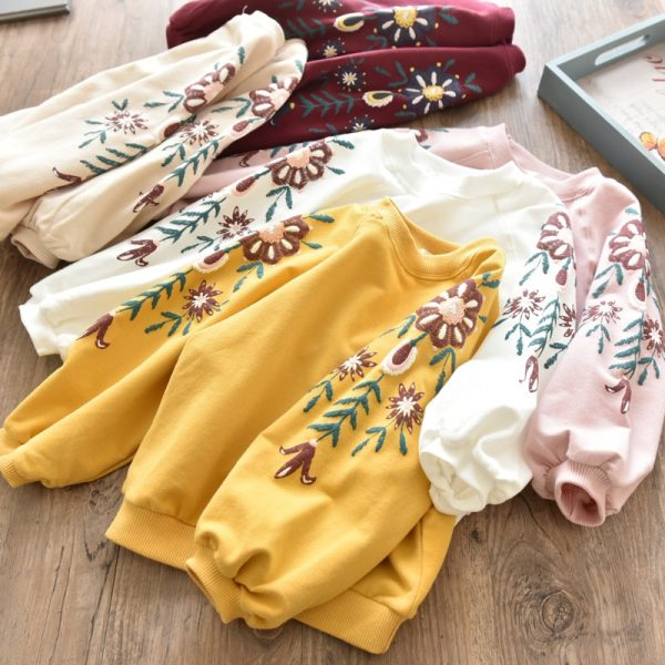 Buy 2019 Baby Girls Sweatshirts Spring Autumn Children hoodies long sleeves sweater for kids T-shirt clothes Hoodie clearance cheap
