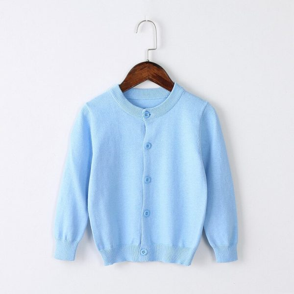 Buy 2019 Spring Girls Cardigan Sweaters Children School Uniform Knitted Sweater Toddler Little Girls Long Sleeve Clothes 2 3 4 5 6 T