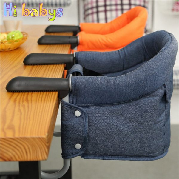 Buy Portable Baby Highchair Foldable Feeding Chair Seat Booster Safety Belt Dinning Hook-on Chair Harness Lunch Cushion