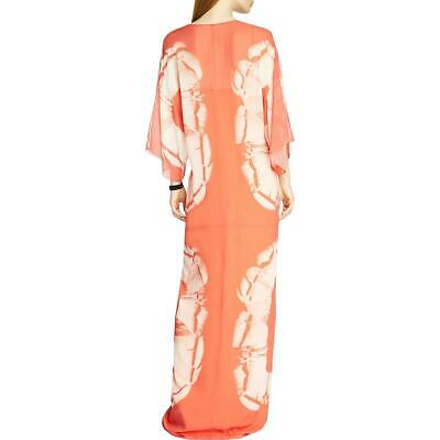 Buy Halston Heritage Womens Silk Printed Caftan Maxi Dress BHFO 0123