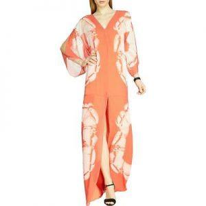 Buy Halston Heritage Womens Silk Printed Caftan Maxi Dress BHFO 0123