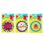 Buy Happy Birthday Gift Accent with Pop Layer Self-Adhesive with Glitter
