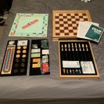 Buy Hasbro Parker Brother Wooden Board Games Monopoly Clue + 6 Games - Collector's