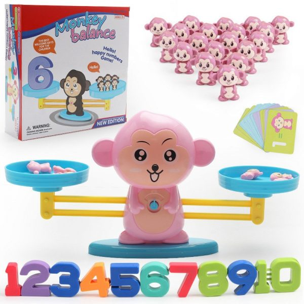 Buy Monkey Digital Balance Scale Toy Early Learning Balance Children Enlightenment Digital Addition and Subtraction Math Scales Toys