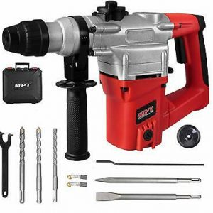 Buy Heavy Duty Rotary Hammer 3 Function  3 Drill Bits MPT 1 Inch SDS plus 8.5 Amp