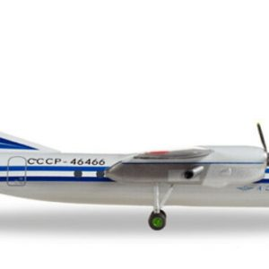 Buy Herpa Wings Aeroflot Antonov AN-24RV CCCP-46466 1/200 diecast plane aircraft