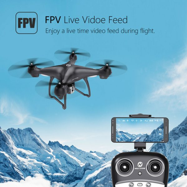 Buy Holy Stone HS100 FPV GPS Drone With 1080P HD Camera WiFi 2.4G RTF RC Quadcopter