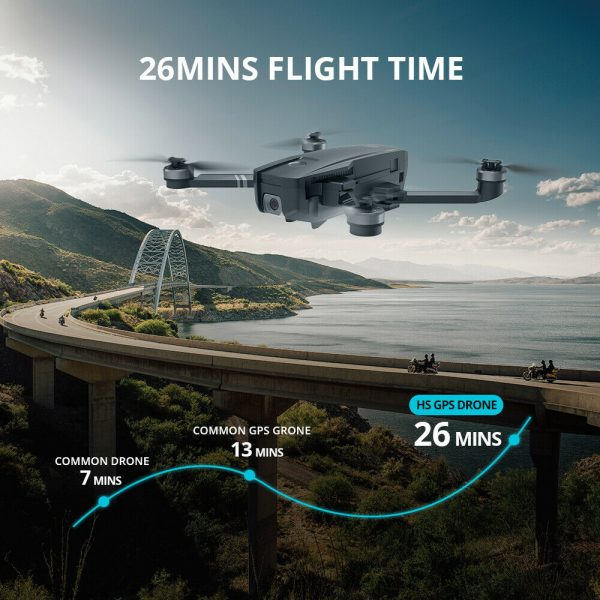 Buy Holy Stone HS720 GPS Drone with 2K Camera Brushless Foldable Drone 2 Batteries
