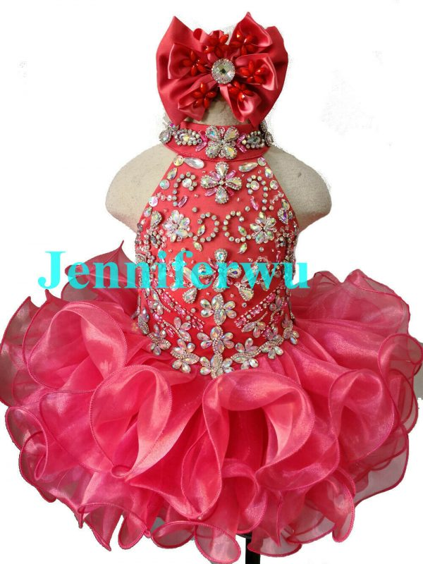 Buy Infant/toddler/kids/baby/Girl's  Pageant/prom/formal Dress 284