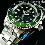 Buy Invicta Men's 47mm GRAND DIVER Automatic Black Dial Green Bezel SS 300M Watch