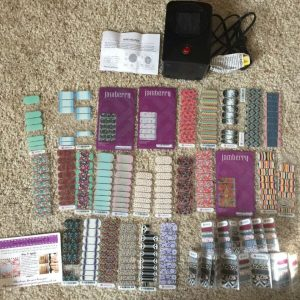 Buy Jamberry Nail Wraps Lot Mini Heater RETIRED Half Full Partial sheets New