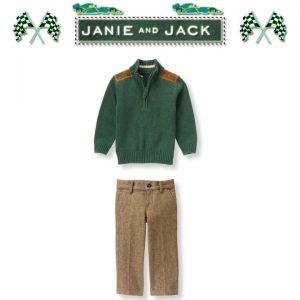"""Buy Janie and Jack baby boy """"Auto Club""""sweater/Pants 2 Piece Set NWT 2T"""