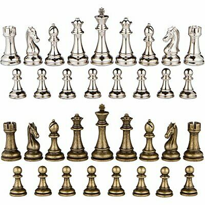 Buy Janus Silver and Bronze Extra Heavy Metal Chess Pieces with 4.5 4.5 Inch King