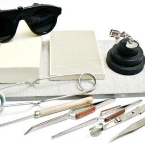 Buy Jewelry Soldering Kit Tools Materials Set Magnesia Block Tweezers 3rd Hand +++