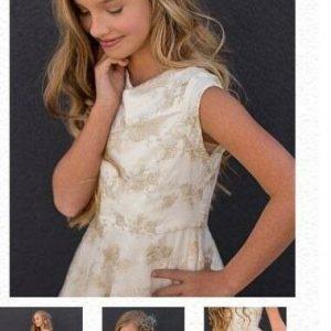 Buy Joyfolie Jacqueline Dress with Gold Lace NWT Size 6