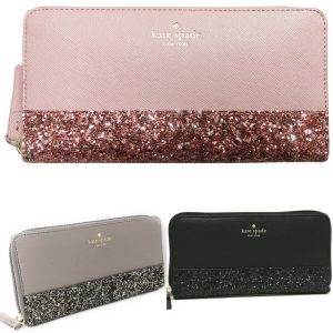 Buy Kate Spade Greta Court Neda Zip Around Continental Wallet Glitter Pink Black