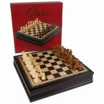 Buy Kavi Inlaid Wood Chess Board Game with Weighted Wooden Pieces, Large 18 x 18 Inc