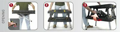 Buy Keter Folding Table Work Bench For Woodworking Tools & Accessories Black/Yellow