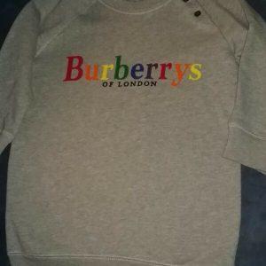 Buy Kids Gray Burberry Sweatshirt Size 3Y