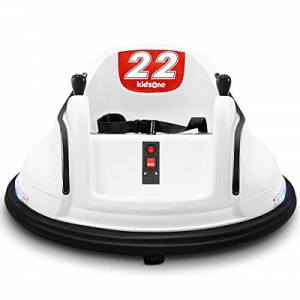 Buy Kidzone Race #22 Kids Electric 360 Degree Spinning Race Bumper Car W/Remote Ride