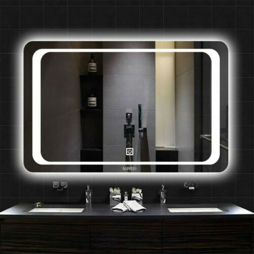 Buy LED Light Bathroom Wall Mount Mirror Anti Fog Memory Touch Button Vanity Mirror