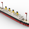 Buy LEGO Titanic Model Building Blocks Kit Built Using REAL LEGO